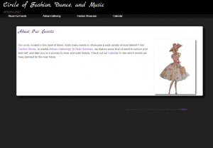 Circle of Fashion, Dance, and Music